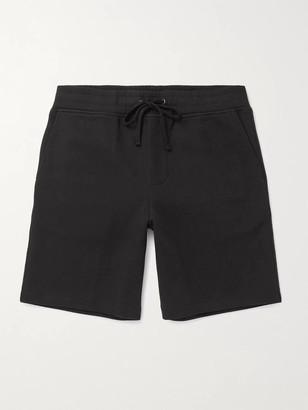 James Perse Wide-Leg Melange Cotton-Blend Jersey Drawstring Shorts