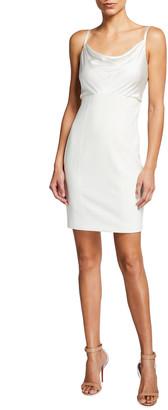 Cinq à Sept Karina Cowl-Neck Mini Dress