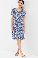 J. Jill Pure Jill Crinkled-Linen Scoop-Neck Dress