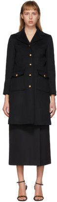Gucci Black GG Wool Coat