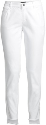 Lafayette 148 New York Mercer Step-Hem Skinny Jeans