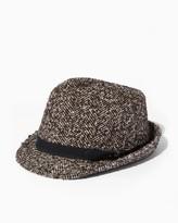 Charming charlie Jaunty Herringbone Fedora Hat