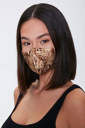 Forever 21 Snake Print Face Mask