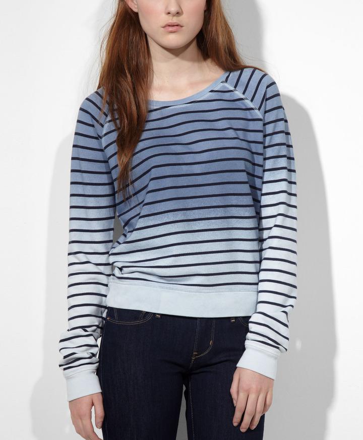 Levi's Dip Dye Striped Sweatshirt