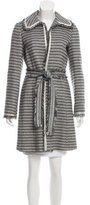 M Missoni Metallic-Accented Belted Coat