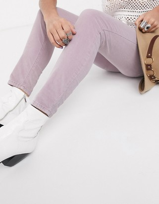Free People sun chaser cord skinny jean in pink