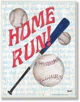 Stupell Industries The Kids Room by Stupell Homerun Baseball Bat Typography Rectangle Wall Plaque