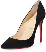 Christian Louboutin Pigalle Follies Suede Red Sole Pump