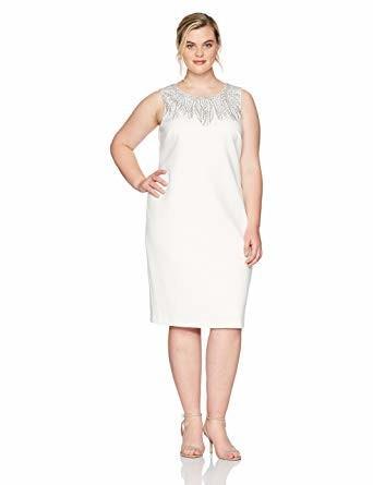 Calvin Klein Women's Plus-Size Sleeveless Dress with Embellishment