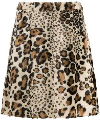 Steffen Schraut leopard-print A-line skirt