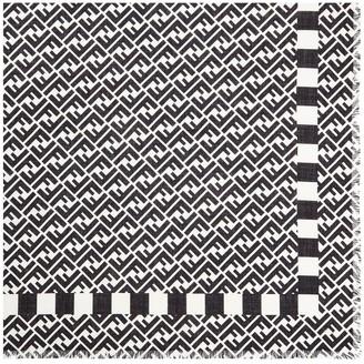 Fendi Monogram Silk Scarf