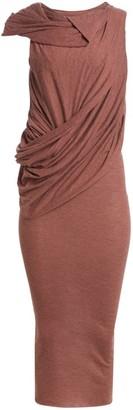 Rick Owens Lilies Sleeveless Draped Midi Dress