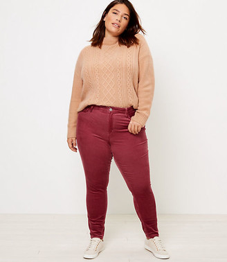 LOFT Plus High Waist Skinny Corduroy Pants