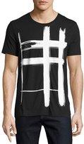 Burberry Lanesbury Brushstroke Check Short-Sleeve T-Shirt, Black