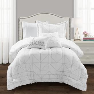 Lush Decor Trio Geo Metallic Print Comforter Set, Multiple Colors