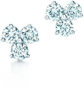 Tiffany & Co. Aria earrings of diamonds in platinum