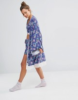 Chelsea Peers Floral Kimono Dressing Gown