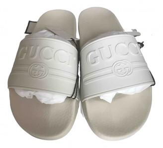 Gucci White Rubber Sandals