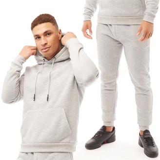 Brave Soul Mens Starkc Tracksuit Light Grey Marl