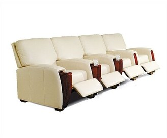 Bass Home Leather Home Theater Row seating (Row of 4