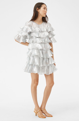 Rebecca Taylor Shadow Lily Ruffle Dress