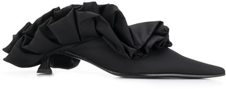 MM6 MAISON MARGIELA ruffle low heel mules