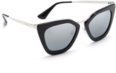 Prada Metal Bridge Mirrored Sunglasses