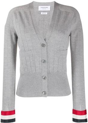 Thom Browne Open Stitch Wool Cardigan
