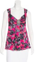 Blumarine Embellished Sleeveless Top