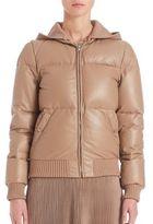 Ralph Lauren Leather Ramona Down Jacket