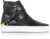 Fratelli Rossetti Black Leather Women's High Top Sneaker