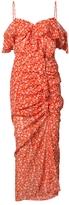 Veronica Beard Cold Shoulder Floral Dress