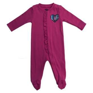 Levi's Baby Girl's Ls Footie Shirt