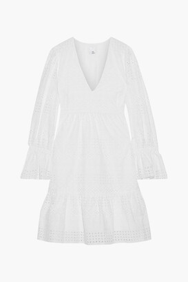 Iris & Ink Saguaro Fluted Broderie Anglaise Cotton Dress