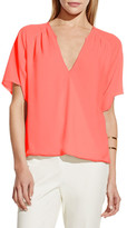 Vince Camuto Short Sleeve Wrap Front Blouse