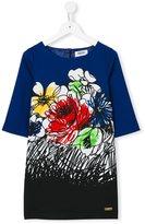 Moschino Kids - flower graffiti print dress - kids - Polyester/Spandex/Elastane/Cupro - 6 yrs