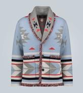 Alanui Icon cashmere jacquard cardigan