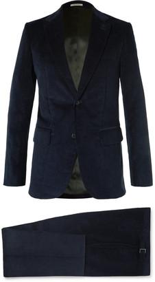 Husbands Mustard Slim-Fit Cotton-Corduroy Suit