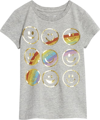Peek Aren't You Curious Smiley Faces Rainbow Graphic Tee