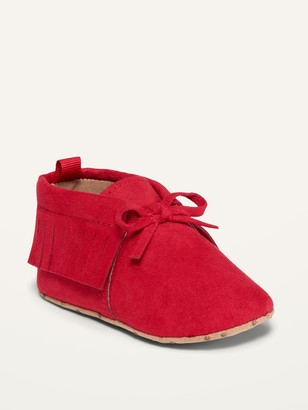 Old Navy Unisex Faux-Suede Moccasin Booties for Baby