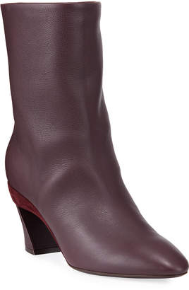 Salvatore Ferragamo Amatea Leather Pointed Booties