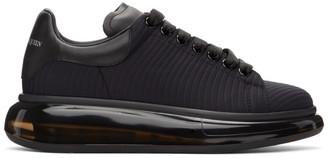 Alexander McQueen Black Neoprene Oversized Sneakers