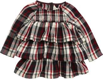 Burt's Bees Baby Plaid Tiered Organic Cotton Long Sleeve Dress