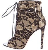 Brian Atwood Floral Lace Booties