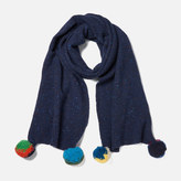 Paul Smith Women's Pom Pom Scarf Blue
