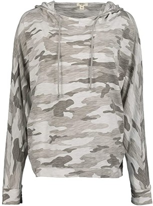 True Grit Dylan by Vintage Caden Camo Caden Top (White) Women's Clothing