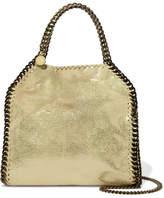 Stella McCartney The Falabella Mini Metallic Faux Brushed-leather Shoulder Bag - Gold