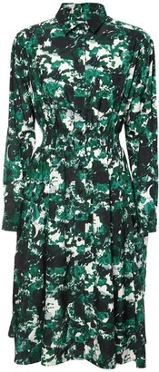 Kenzo Printed Cotton & Silk Poplin Dress
