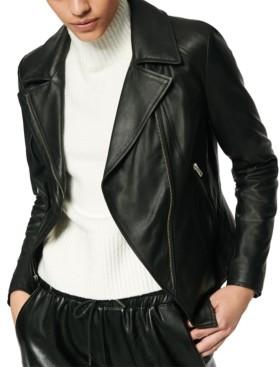 Andrew Marc Bayside Leather Moto Jacket