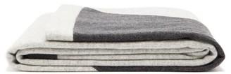 Allude Two-tone Cashmere Blanket - Grey Multi